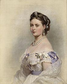 Kronprinzessin Victoria Porträt von Franz Xaver Winterhalter 1867